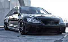PD800S Front Bumper incl. Add-on Spoiler, LED Mesh for S Class