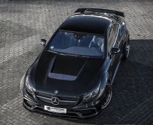 S Class Coupe Prior design PD75 vented bonnet